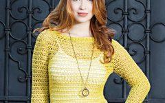 Blusa Mirella Decote Canoa Em Crochê – Material e Receita
