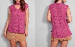 Blusa Violeta Em Tricô – Material e Receita
