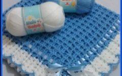Manta Azul Em Crochê – Material e Receita e Vídeo