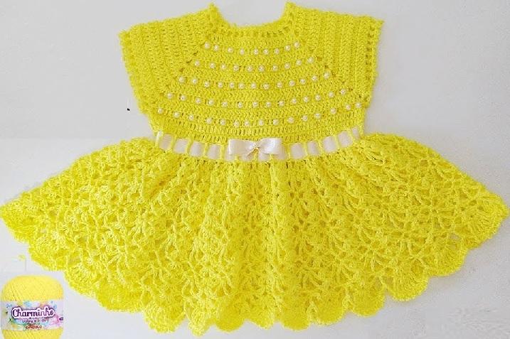 Vestidinho Charminho Em Crochê – Material e Vídeo