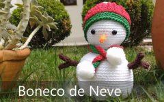 Amigurumi Boneco de Neve Em Crochê – Material e Vídeo a53c874bc80