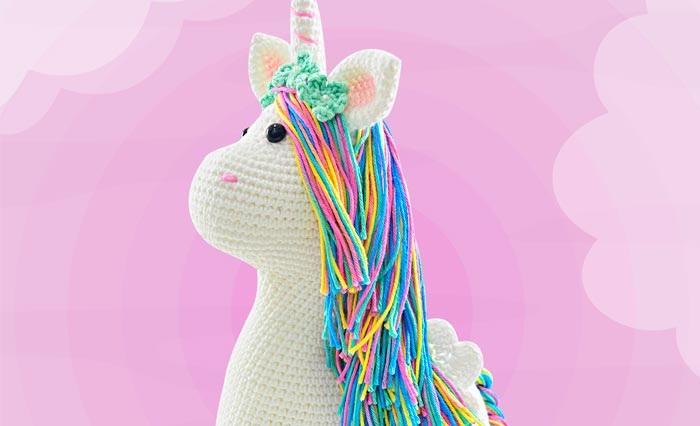 🦄 Como fazer um Unicórnio de crochê - YouTube | 426x700
