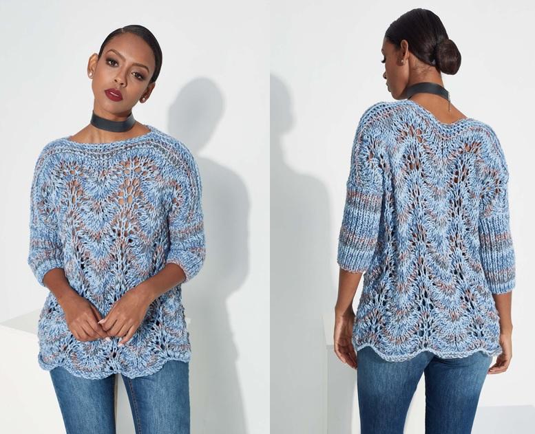 Blusa Mescla Azul Aquarela Em Tricô – Material e Receita
