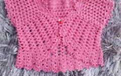 Bolero Infantil Charme Em Crochê – Material e Vídeo