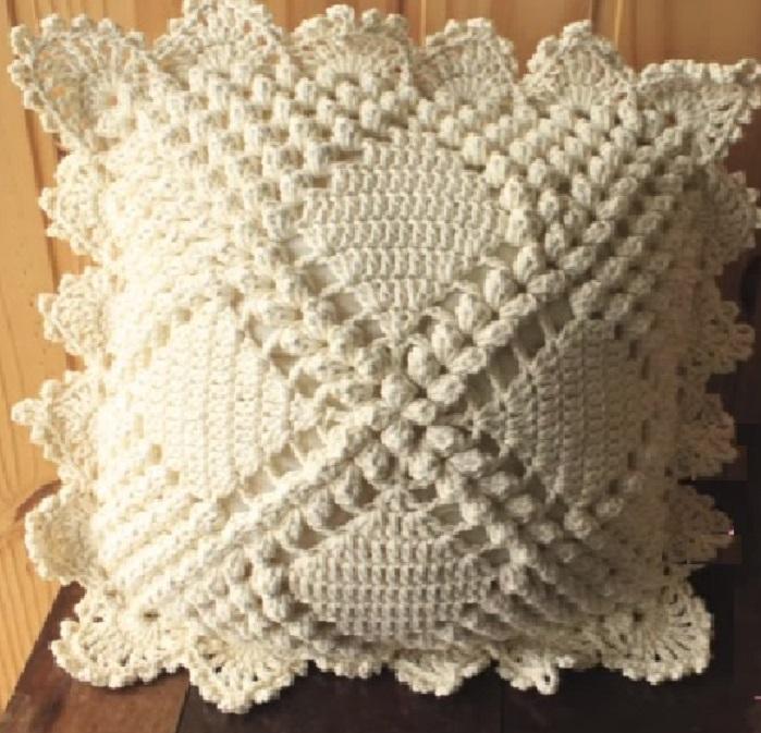 Capa de Almofada Vintage Em Crochê – Material e Vídeo