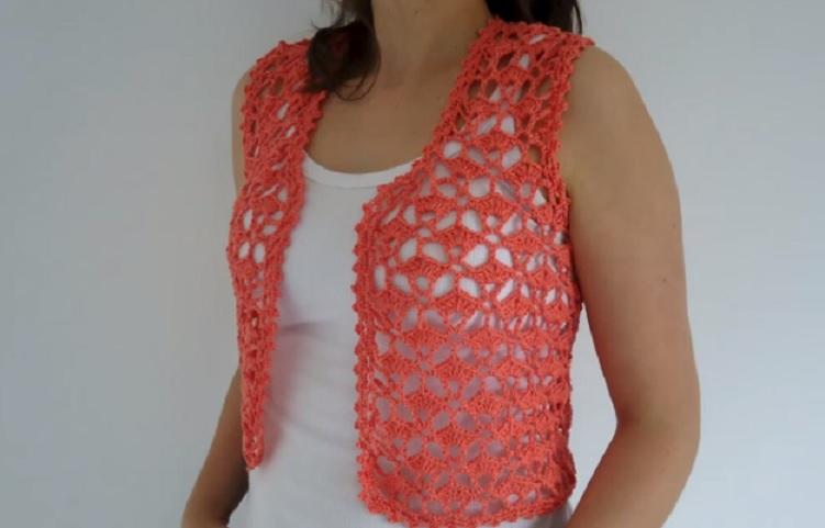 Colete Summer Em Crochê – Material e Receita