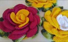 Mega Rosa em Crochê – Material e Vídeo