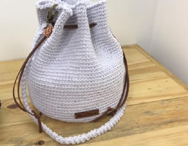 Bolsa Saco Em Crochê – Material e Vídeo