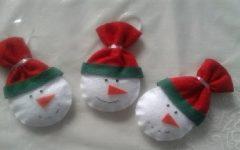 Boneco de Neve Para Natal Em Feltro – Material e Vídeo