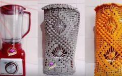Capa Para Liquidificador Pipoca Em Crochê – Material e Vídeo