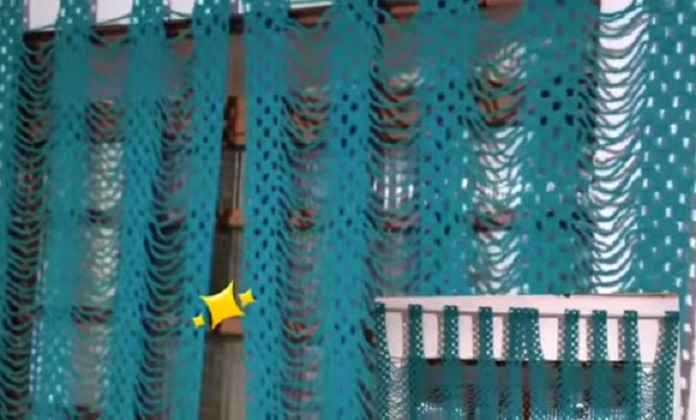Cortina de Barbante Em Crochê – Material e Vídeo
