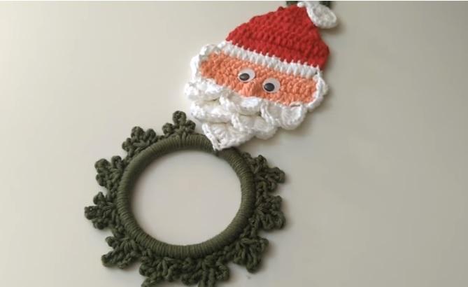 Porta Pano de Prato Papai Noel Crochê – Material e Vídeo