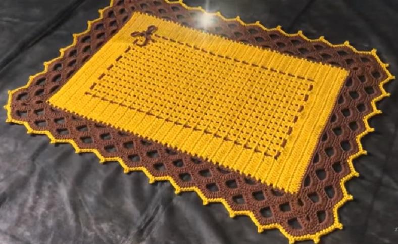 Tapete Bico Em Arcos de Crochê – Material e Vídeo