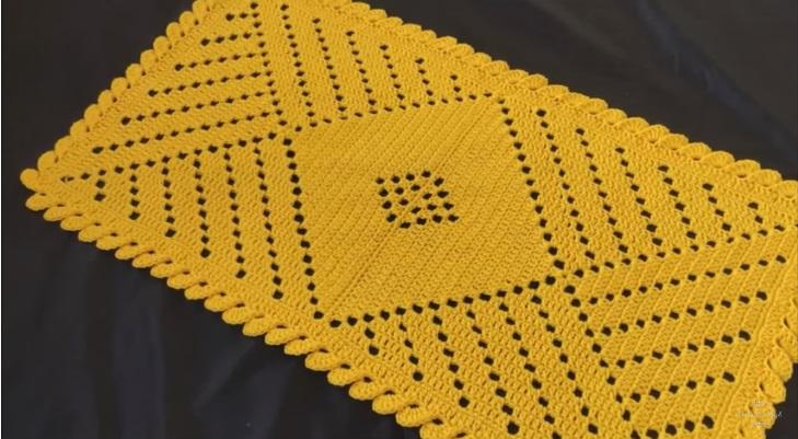 Tapete Diagonal Crochê – Material e Vídeo
