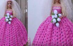 Vestido de Noiva Para Boneca Em Crochê – Material e Vídeo