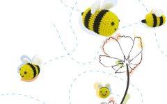 Abelhinha de Crochê – Material e Receita