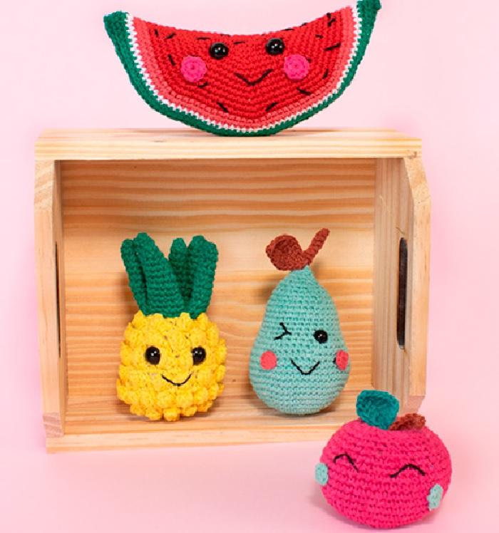 Amigurumi Salada de Frutas Em Crochê – Material e Receita
