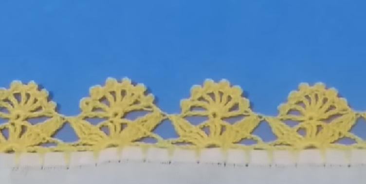Bico Para Pano de Prato Delicado Em Crochê – Material e Vídeo