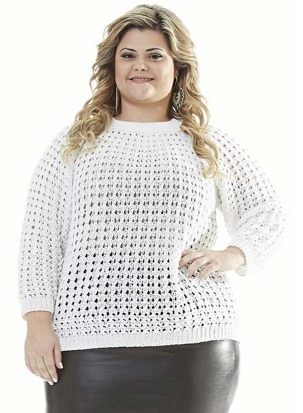 Blusa Strass Plus Size Crochê – Material e Receita