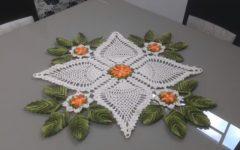 Centro de Mesa Flores e Folhas Em Crochê – Material e Vídeo