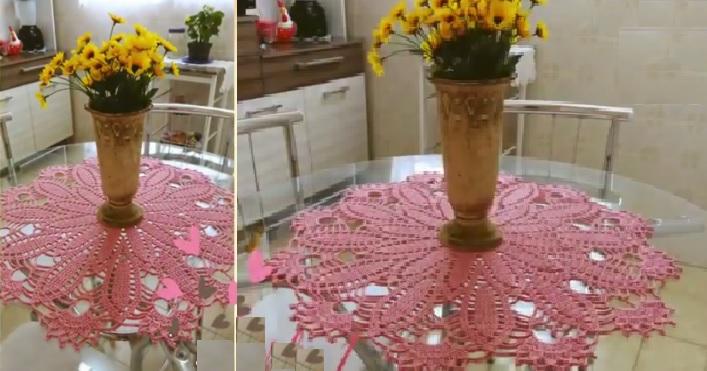 Centro de Mesa Margarida Em Crochê – Material e Vídeo
