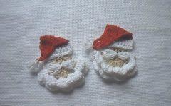 Papai Noel Para Aplique Em Crochê – Material e Vídeo