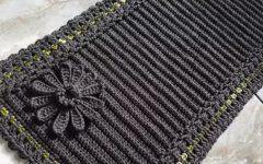 Tapete Ponto Relevo Com Trancinha Em Crochê – Material e Vídeo