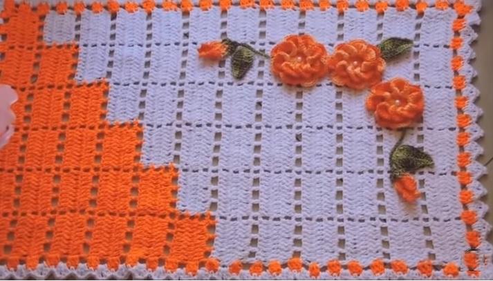 Tapete de Pia Dual Color Em Crochê – Material e Vídeo
