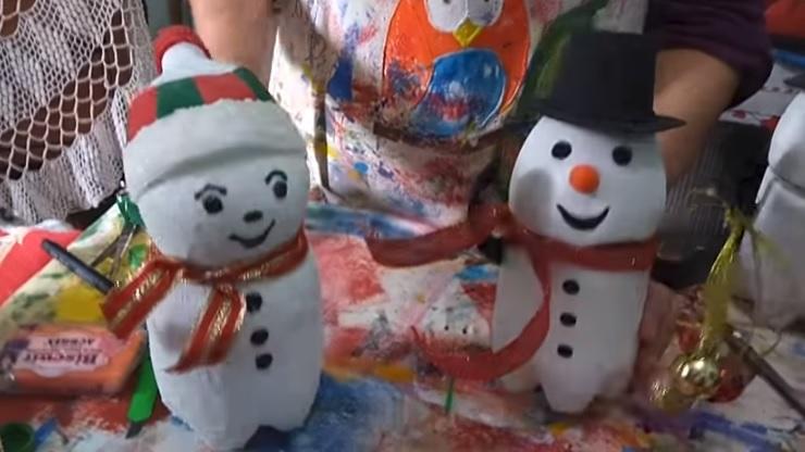 Boneco De Neve Em Garrafa Pet – Material e Vídeo