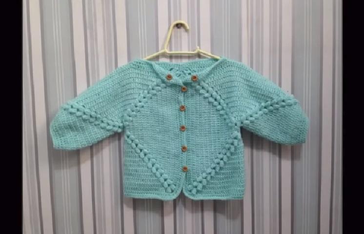 Casaco de Bebê Verde Em Crochê – Material e Vídeo