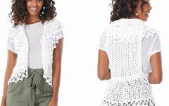 Colete Branco Barroco Em Crochê – Material e Receita