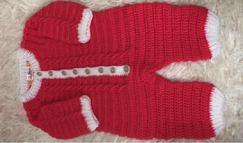 Macacão Mais Bebê Em Crochê – Material e Vídeo