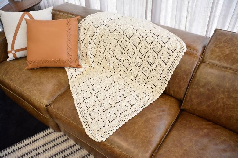 Manta Natural Abacaxi Em Crochê – Material e Receita