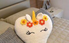 Almofada Unicórnio Em Crochê – Material e Receita