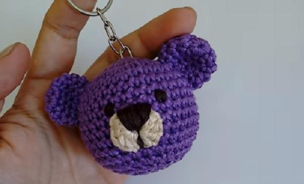 Amigurumi Chaveiro Urso Em Crochê – Material e Vídeo