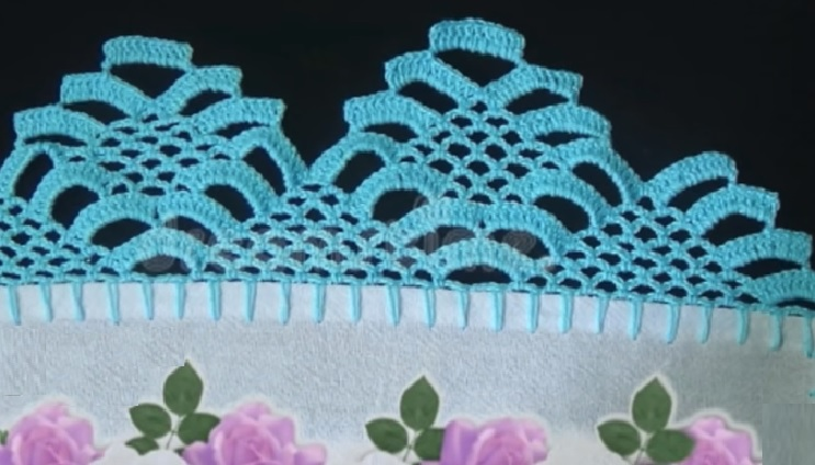 Barrado Pano de Prato Arcos Em Crochê – Material e Vídeo