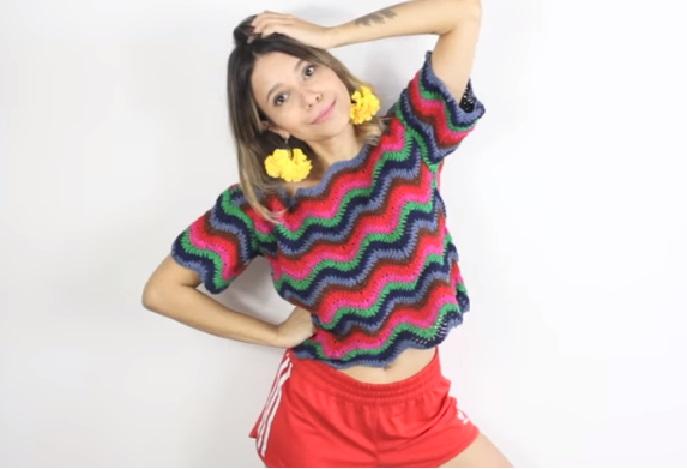 Blusa Cores Verão Em Crochê – Material e Vídeo