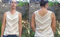 Blusa Diagonal Em Crochê – Material e Vídeo