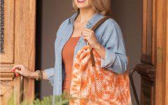 Bolsa MultiArte Laranja Em Crochê – Material e Receita