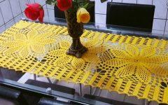Caminho de Mesa Amarelo Em Crochê – Material e Vídeo