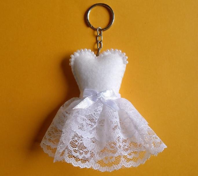Chaveiro Vestido de Noiva Em Feltro – Material e Vídeo