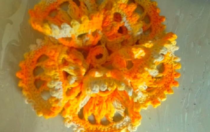 Flor Rendada Em Crochê – Material e Vídeo
