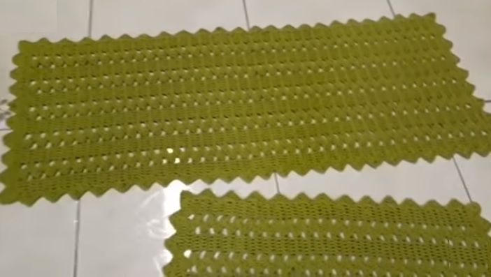 Jogo de Cozinha Pistache Crochê – Material e Vídeo