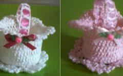 Lembrancinha Cestinha Em Crochê – Material e Vídeo