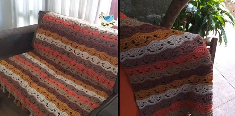 Manta Terra Para Sofá Em Crochê – Material e Vídeo