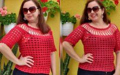 Blusa Pala De Correntinha Em Crochê – Material e Vídeo