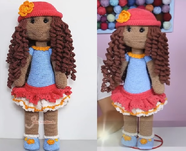 Boneca Amigurumi AmiMara Em Crochê – Material e Vídeo