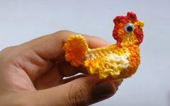 Galinha Para Aplicação Em Crochê – Material e Vídeo
