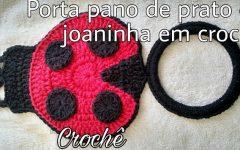 Porta Pano de Prato Joaninha Em Crochê – Material e Vídeo