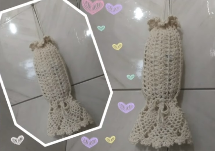Puxa Saco Ponto Abacaxi Em Crochê – Material e Vídeo